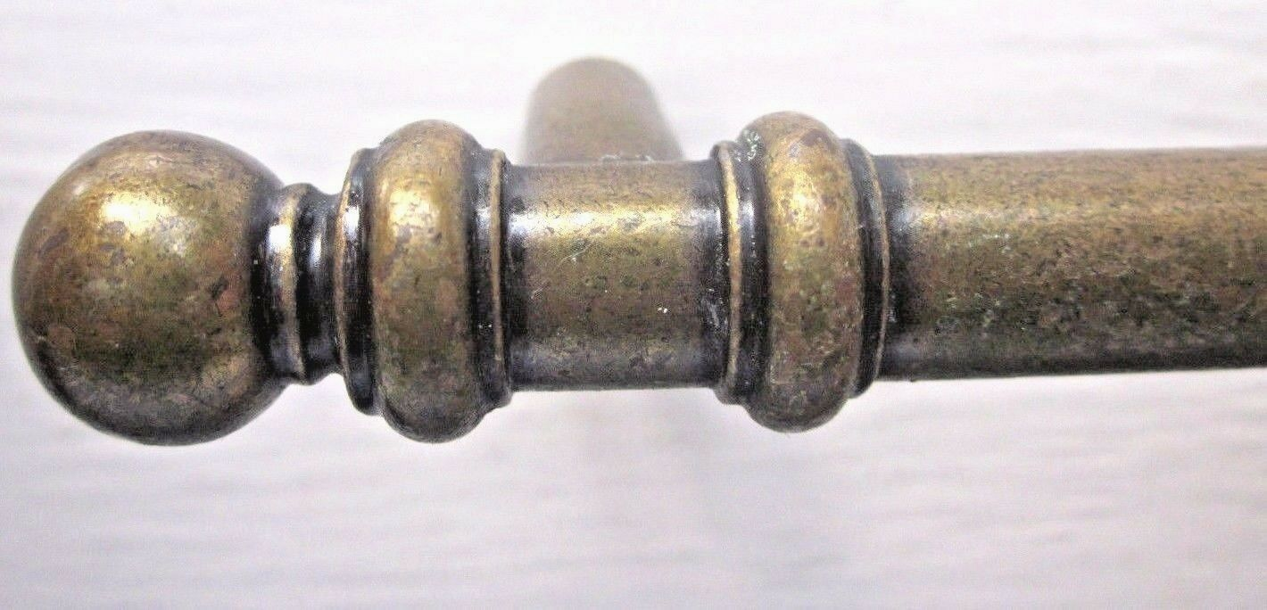 "1 Vintage Antique Brass Amerock Drawer Pull Handle 5-1/8"" 3""C-C Ball End Finials"