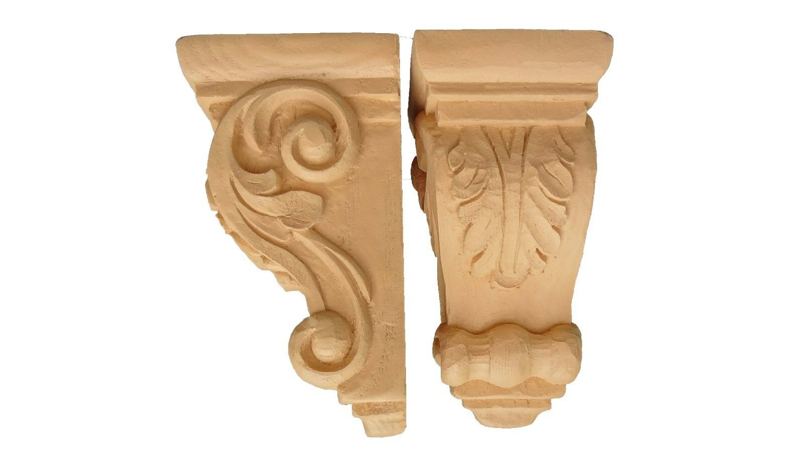 Traditional Corbel Pair - Leaf  motif with thick side scrolls