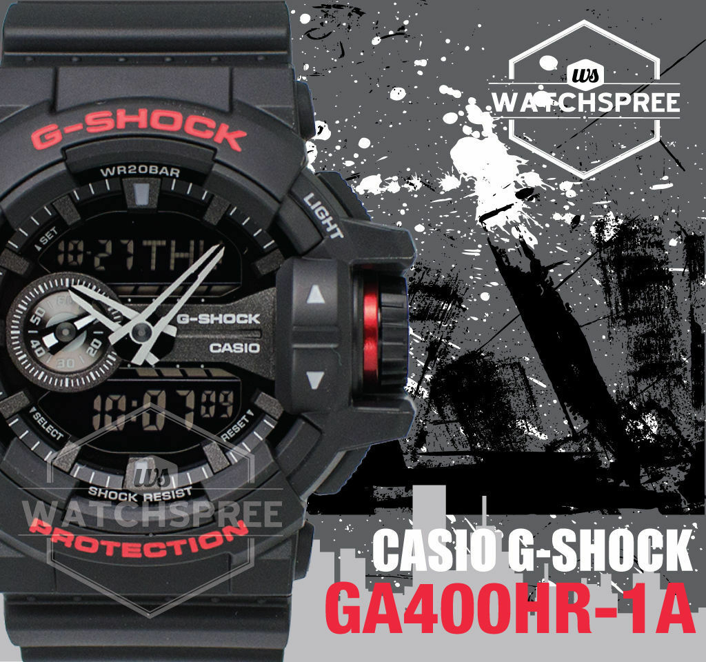 Casio G Shock Black Red Series Special Color Model Watch Ga400hr Ga 110hr 1adr 1a 1 Of 5only 5 Available