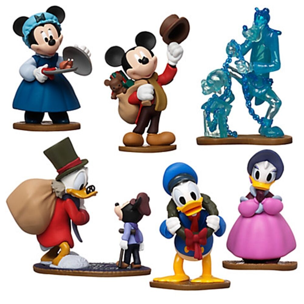 Disney store mickey 39 s christmas carol mickey mouse 6 piece figurine play set picclick uk - Disney store mickey mouse ...