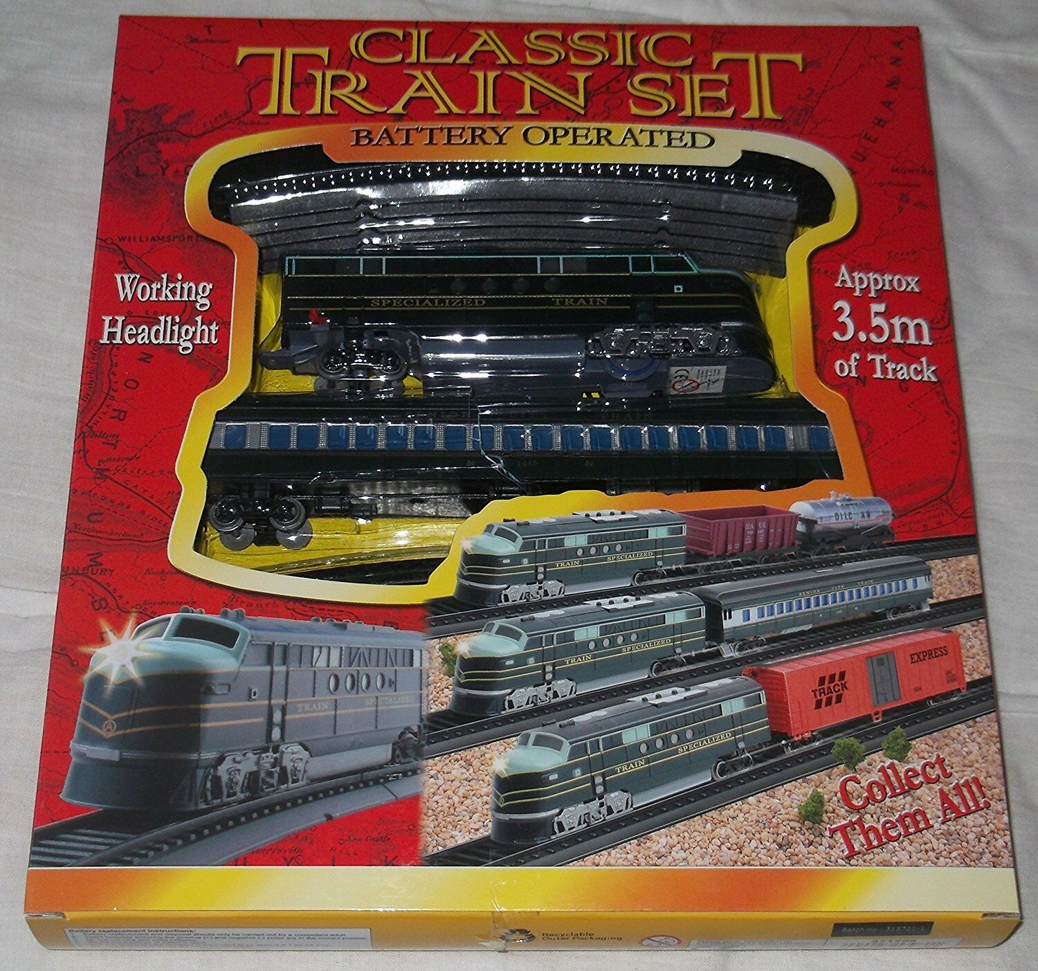 Classic Toy Train Set Battery Operated Light Up Head 35m Lights For Model Trains 1 Of See More