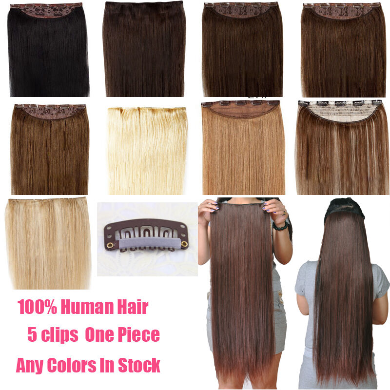 161822one Piece Clip In Remy Human Hair Extensions Hair Pieces