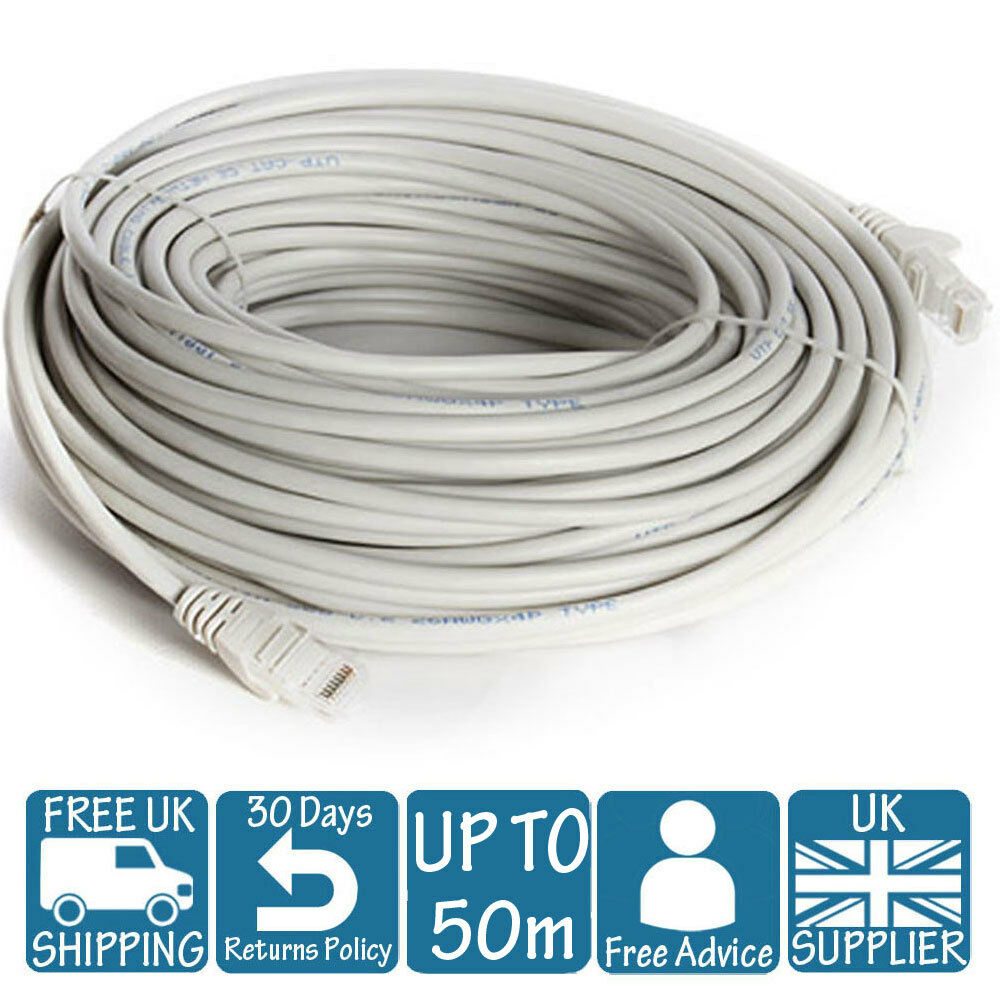 3m 5m 10m 15m 20m 30m 40m 50m Long Network Ethernet Cable Internet 6m Cat5e Cat 5e Rj45 Patch Lan Lead Wire Cat5 1 Of 1free Shipping See More