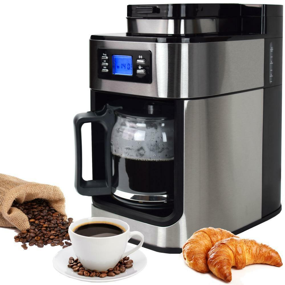 syntrox edelstahl kaffeemaschine kaffeeautomat mit mahlwerk m hle timer eur 104 95 picclick fr. Black Bedroom Furniture Sets. Home Design Ideas
