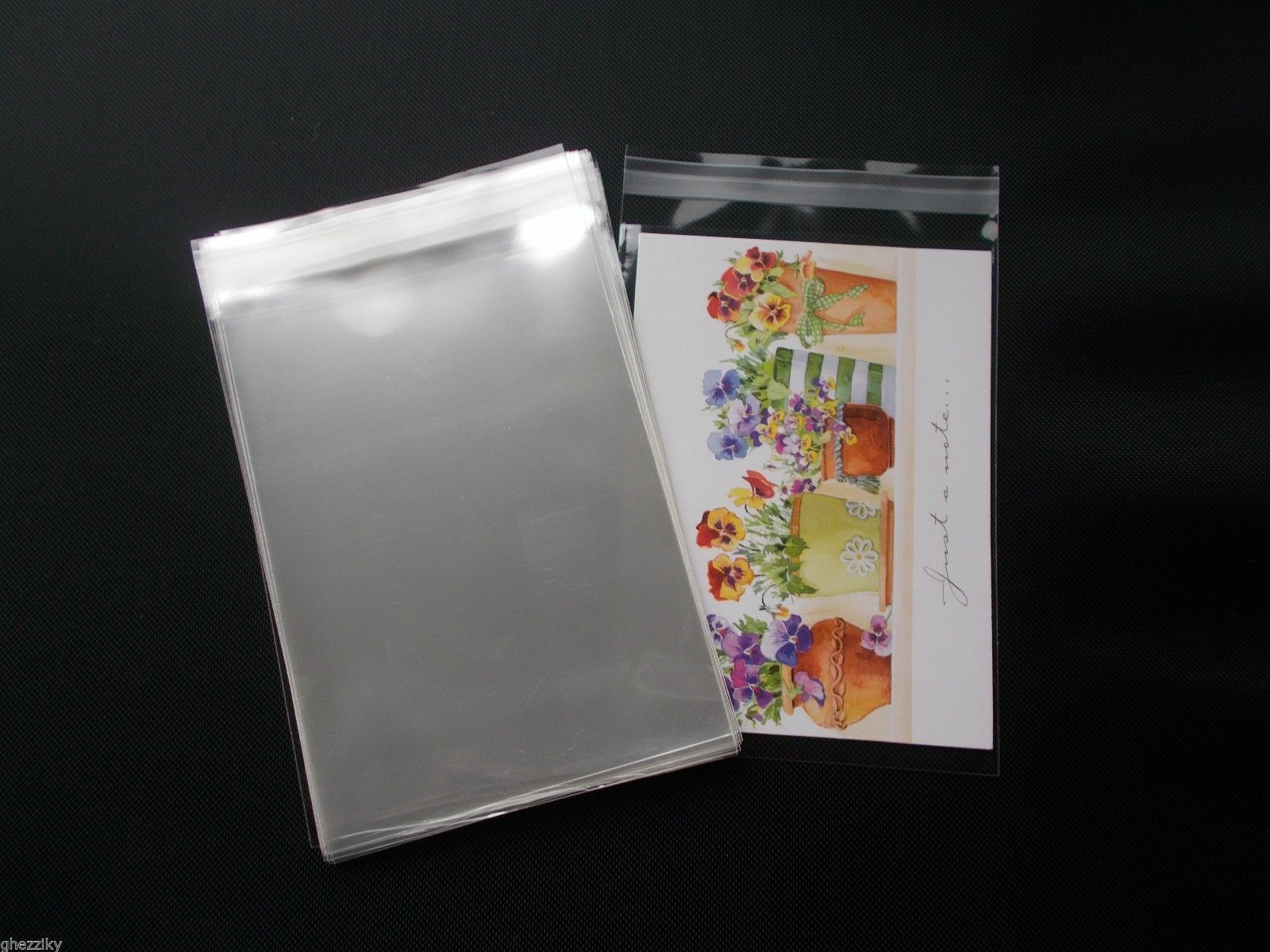 100 Crystal Clear Cello Self Seal Resealable Bags A2 Card 4 38x5 3