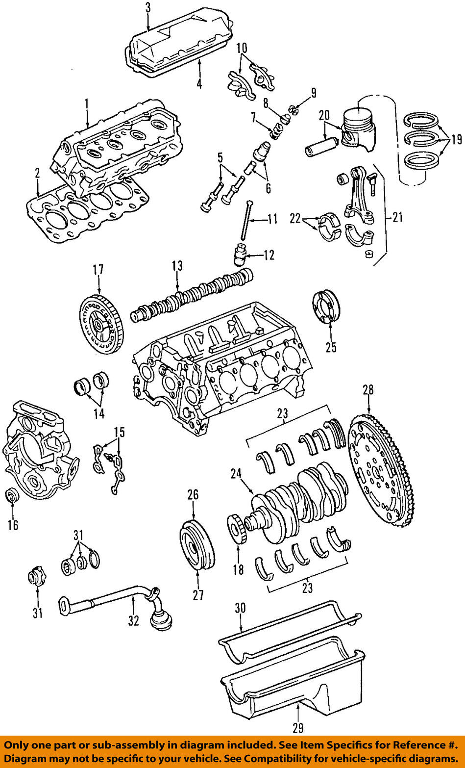 Ford Oem 98 02 E 350 Econoline Club Wagon Engine Oil Pump Yc3z6619ba Diagram 1 Of 1only Available