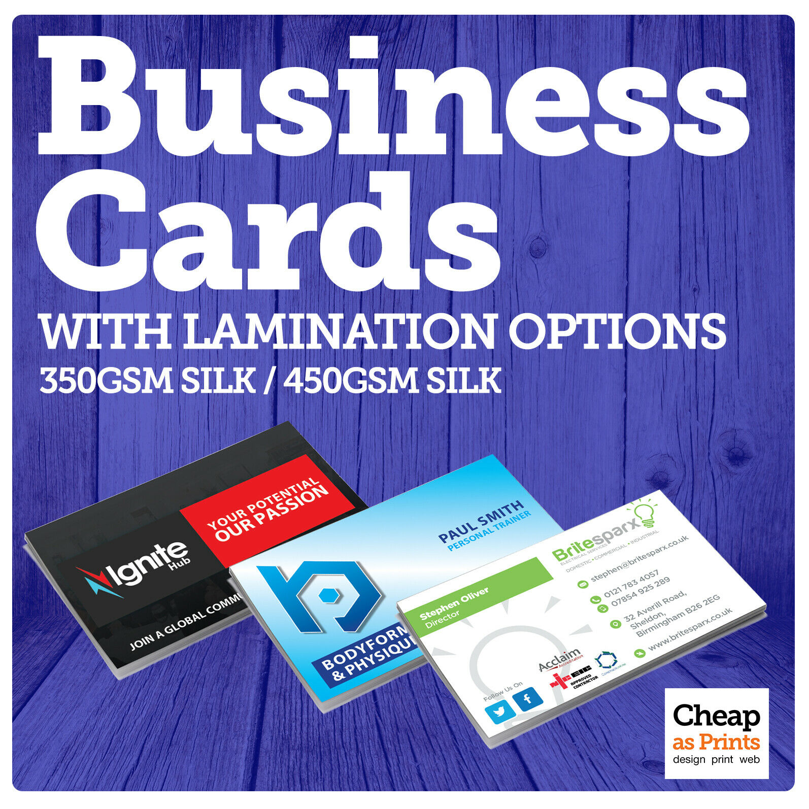 Business cards printing premium business cards printed single or 1 of 1free shipping reheart Gallery