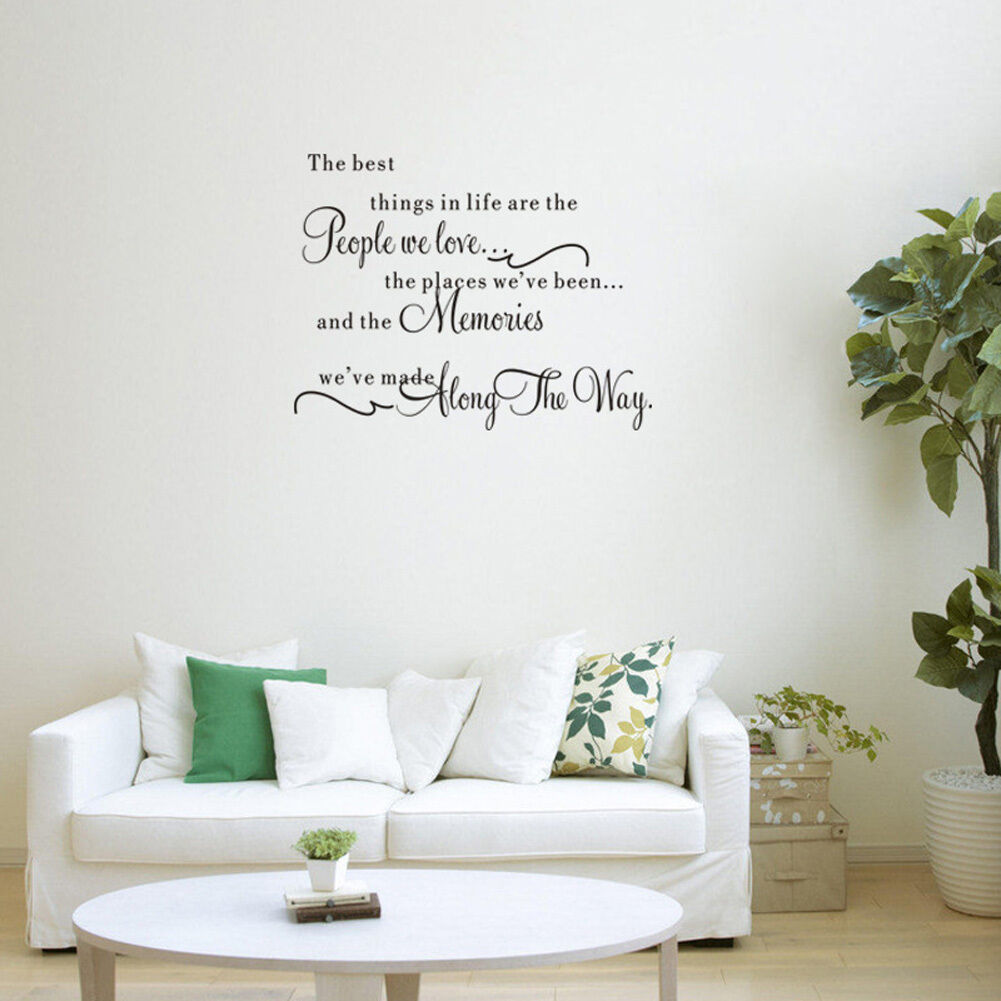 removable quote word decal vinyl wall stickers home room
