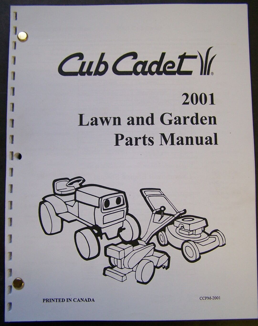 Cub Cadet 2001 Lawn and Garden Equipment Parts Manual 1 of 3Only 1  available ...