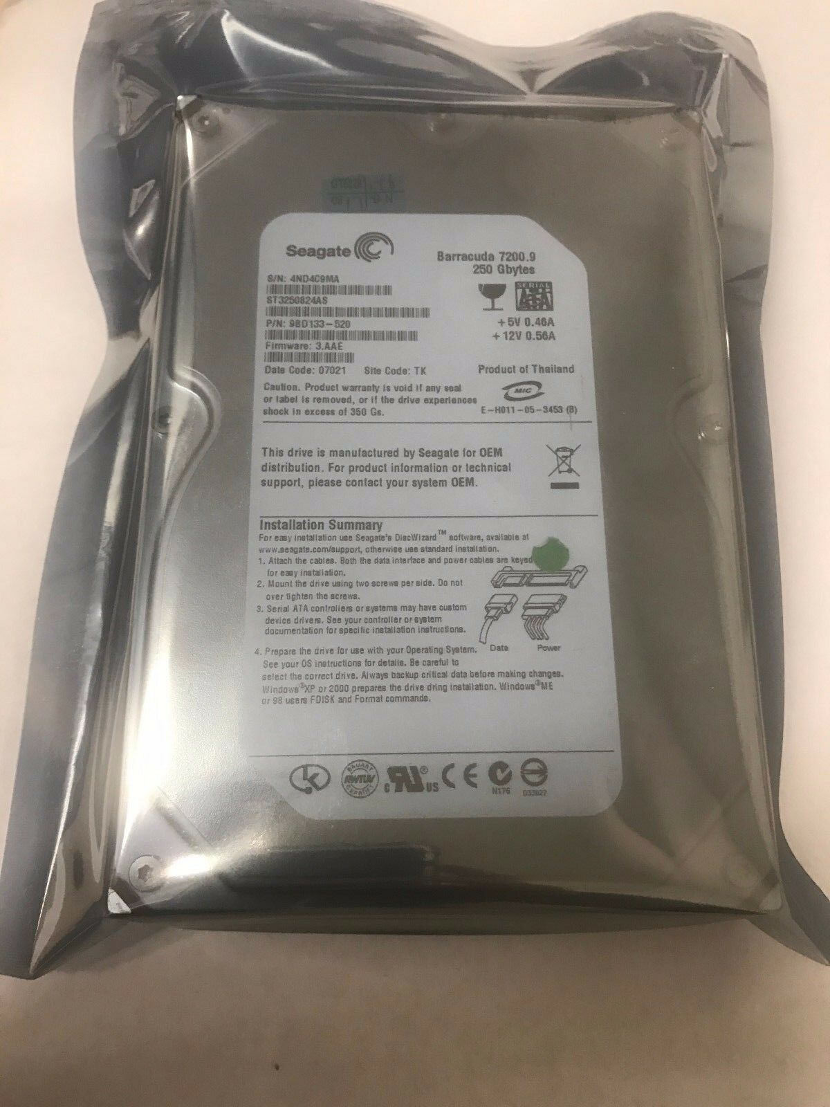 Seagate Barracuda 72009 250gb 7200rpm Sata 3gbps 8mb 35 Firecuda Inch 2tb Sshd 5 Years Warranty Hddssd For Pc Gaming 1 Of 1free Shipping