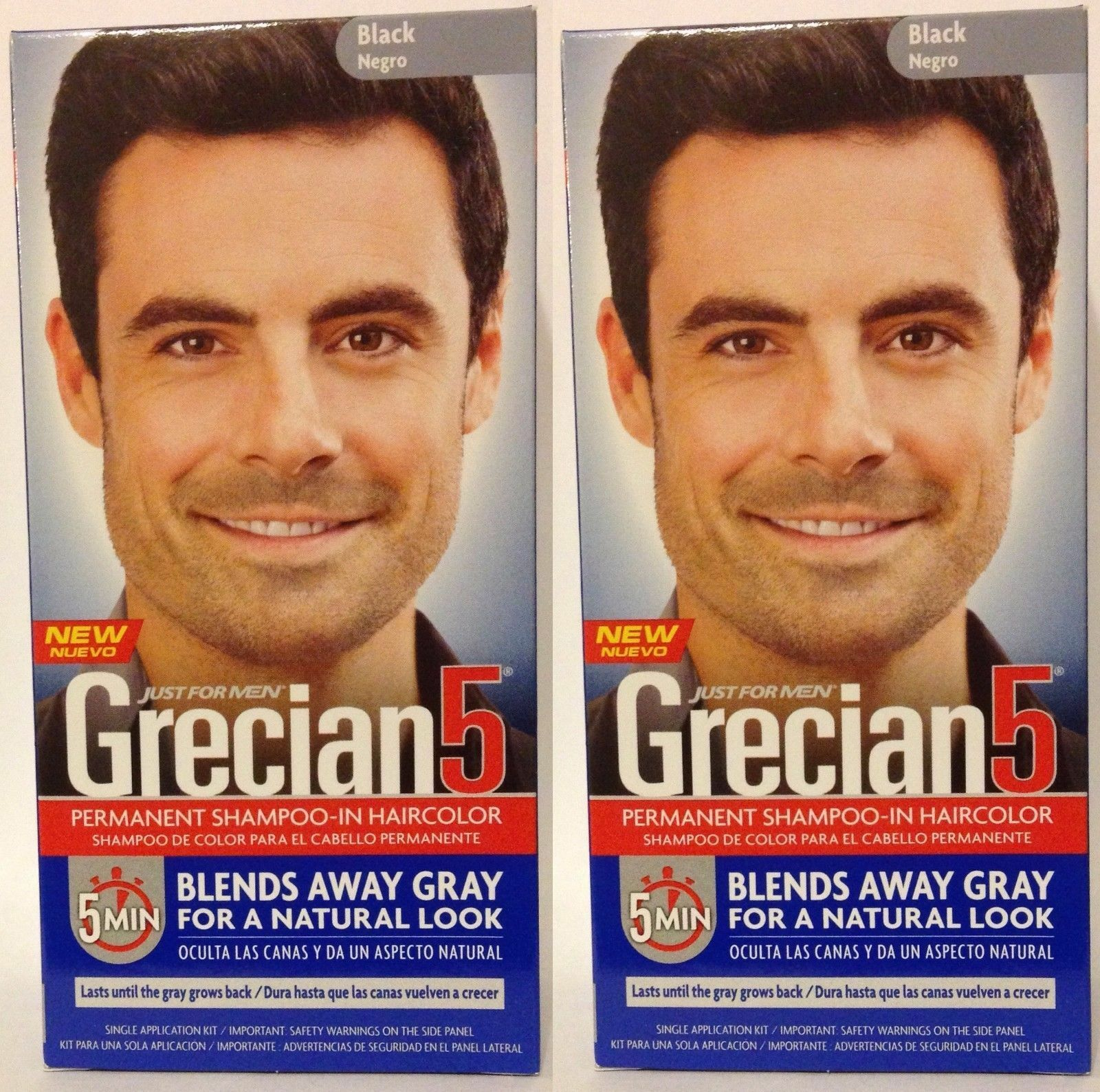 Just For Men Grecian 5 Hair Shampoo In Hair Color Jet Black 2