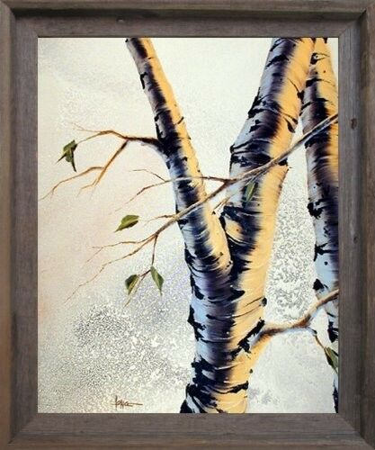 FOREST ASPEN TREE Scenery Nature Wall Decor Barnwood Framed Art ...