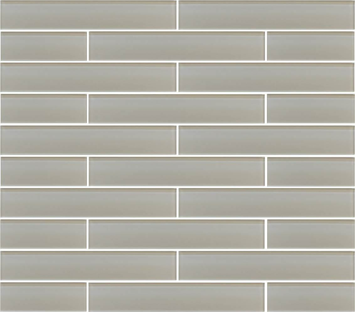 Country Cottage Light Taupe 2x12 Glass Subway Tiles For Backsplash