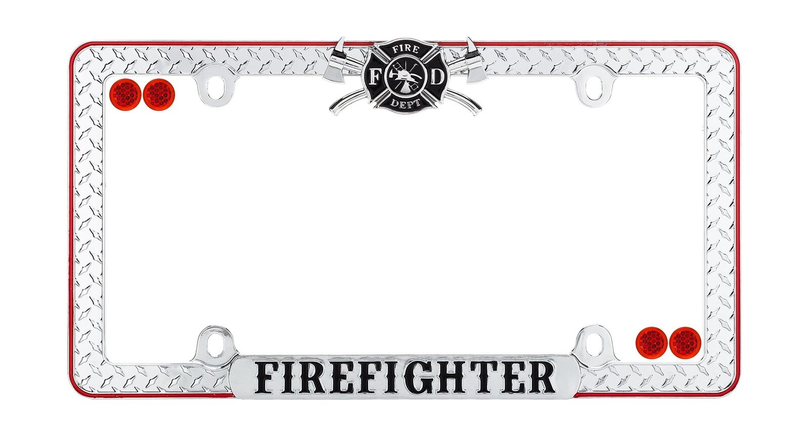 CRUISER ACCESSORIES 30936 Firefighter License Plate Frame, Chrome ...