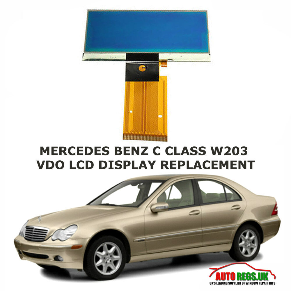 Mercedes benz c class w203 lcd vdo display screen for Mercedes benz usa customer service phone number
