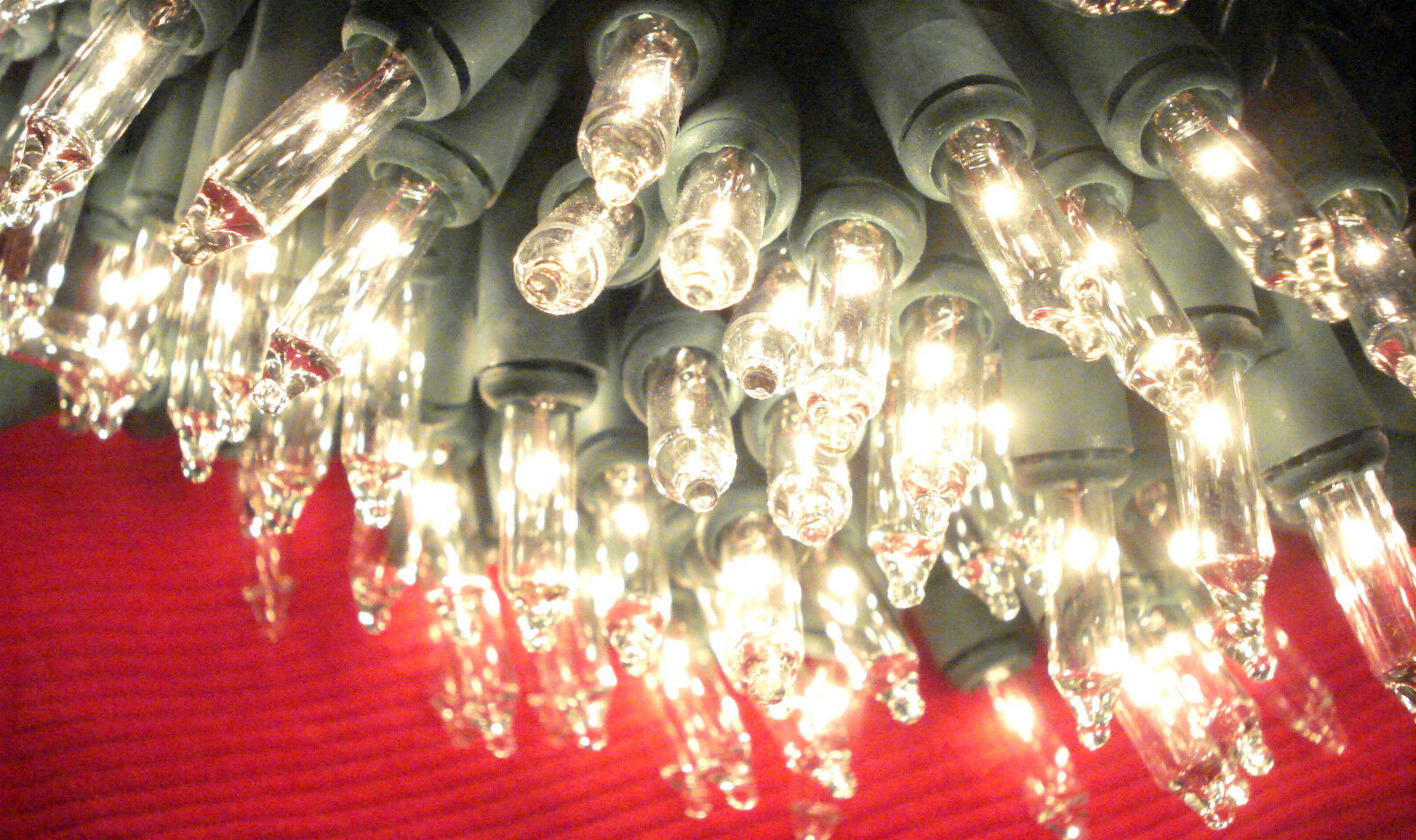 NEW 300 WHITE Icicle Lights Clear Christmas Wedding GREEN Wire ...