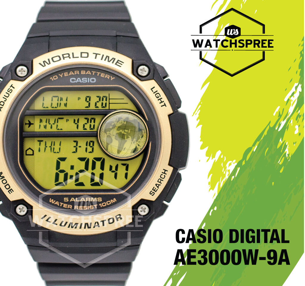 Casio Standard Digital Watch Ae3000w 9a 3380 Picclick Aeq 200w 1 Of 4only 2 Available