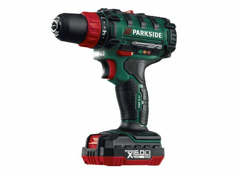 New cordless drill pabs 16 a2 lithium ion 16v battery for Lidl parkside italia