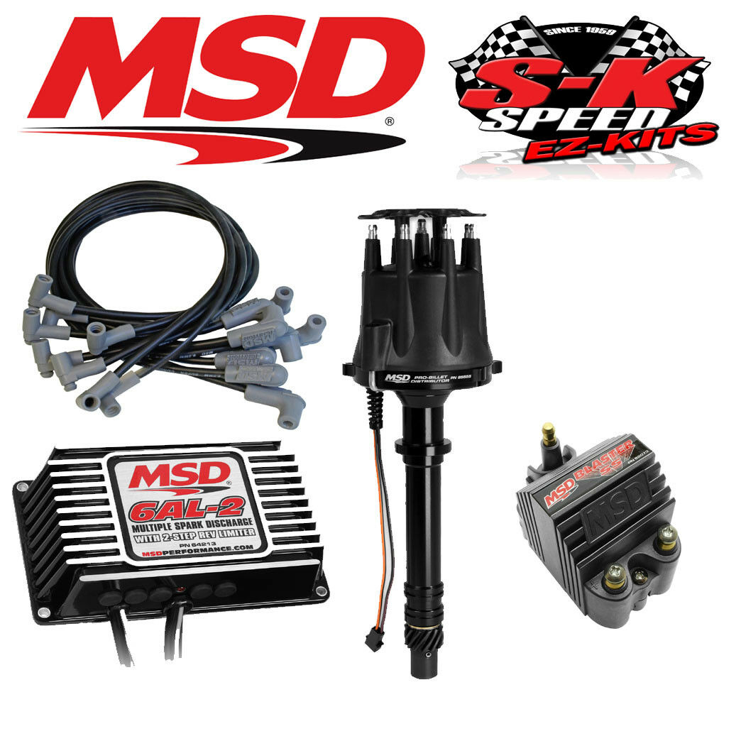 Msd 91503 Ignition Kit Digital 6al 2 Distributor Wires Coil Small Wiring Block Chevy 1 Of 2only 4 Available