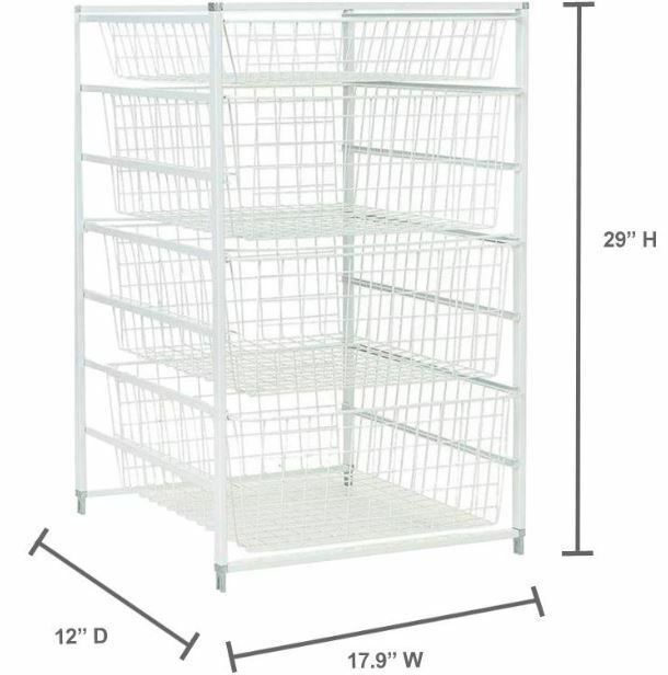 1 Of 7Only 1 Available Ventilated Wire Basket Drawer Storage Rack Organizer  Home Closet Office Laundry