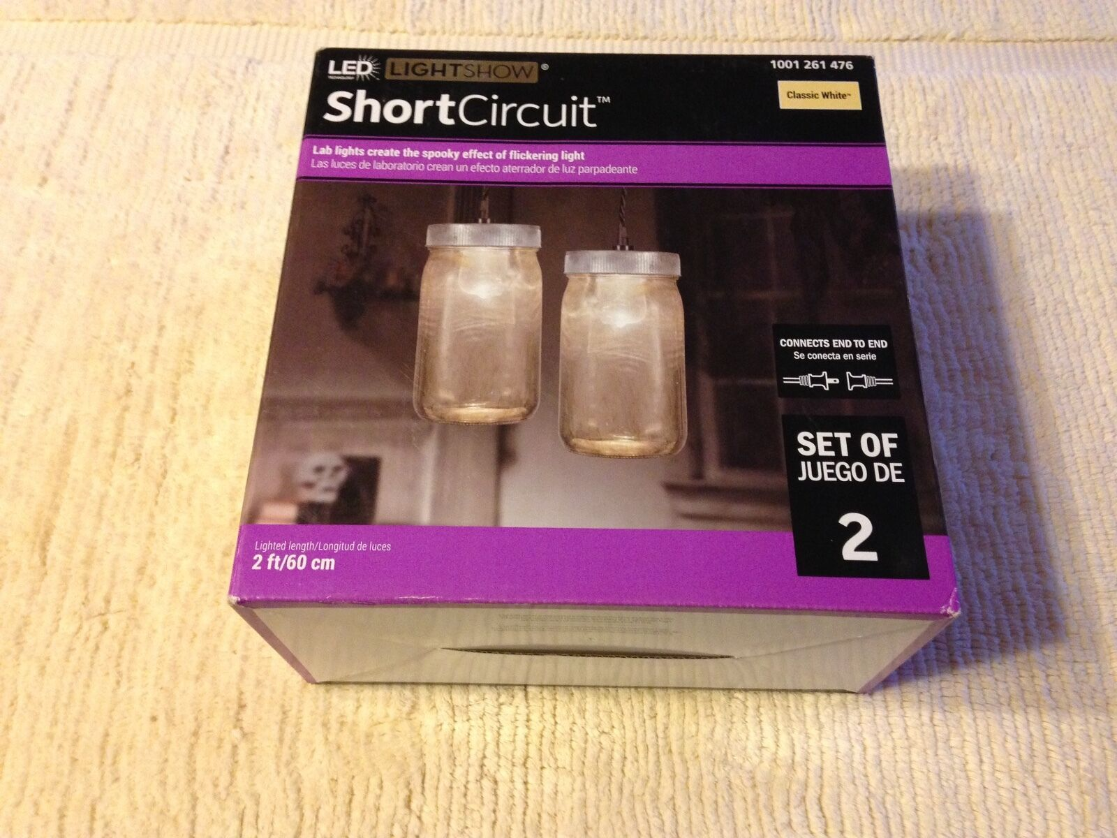 Halloween Gemmy Short Circuit 2 Pack Of Classic White Lab Flickering Shortcircuit2 1