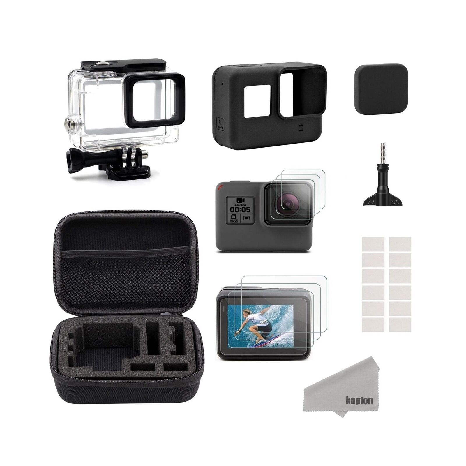 Kupton Accessories For Gopro Hero 2018 6 5 Black Starter Kit Acc Remote 20 1 Of 8free Shipping