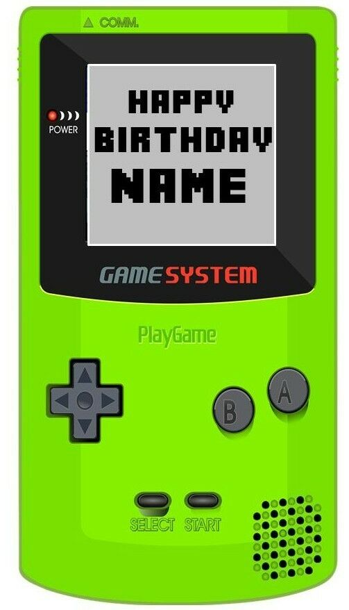 Personalised 3d Gamegaminggamer Game Boyplaystationxbox Fans