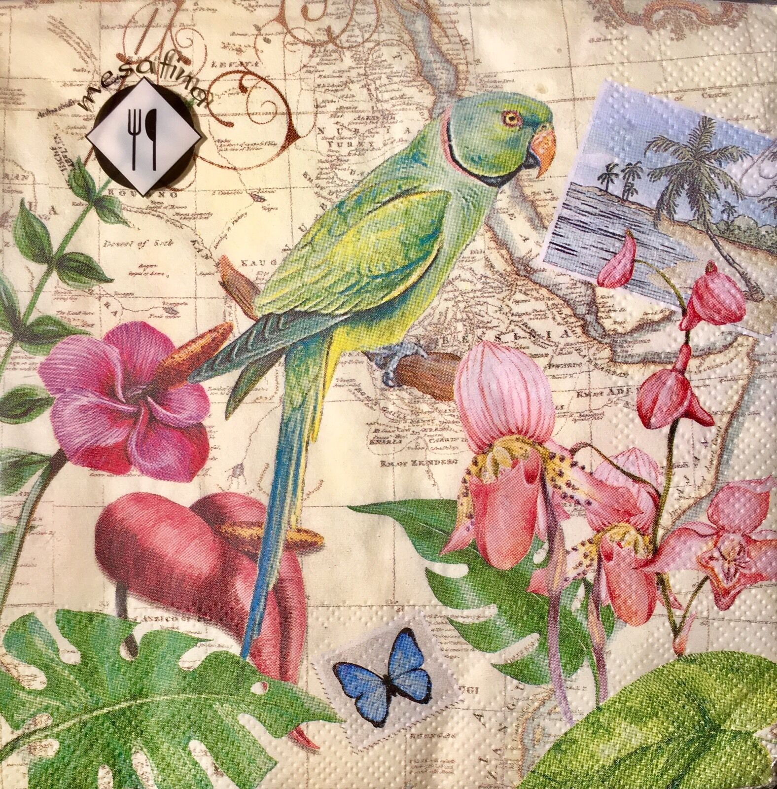 MESAFINA SET OF 20 Luncheon Decoupage Paper Napkins - Tropical ...