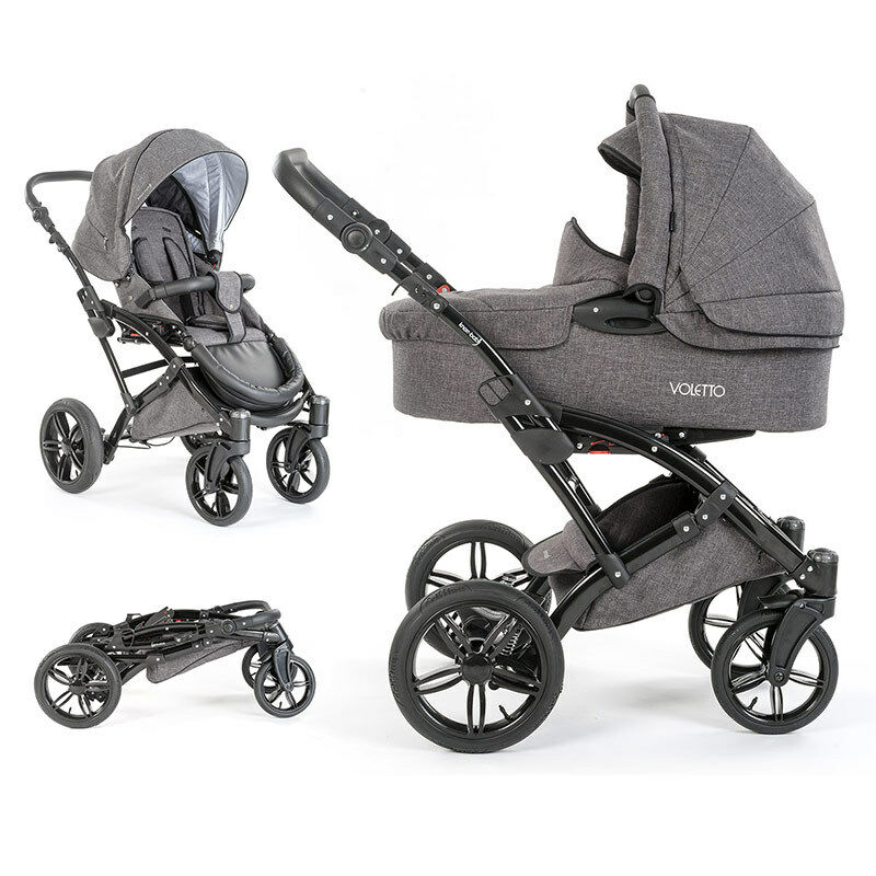 knorr baby 2in1 kombi kinderwagen sportwagen voletto exklusiv melange grau eur 449 00. Black Bedroom Furniture Sets. Home Design Ideas