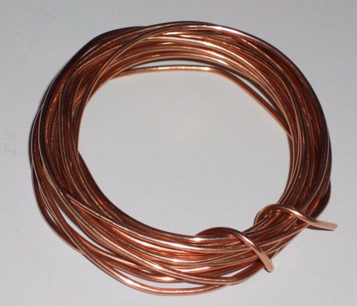 SCRAP BARE BRIGHT COPPER WIRE - 12 AWG - 5 Feet Long - CRAFTS ...
