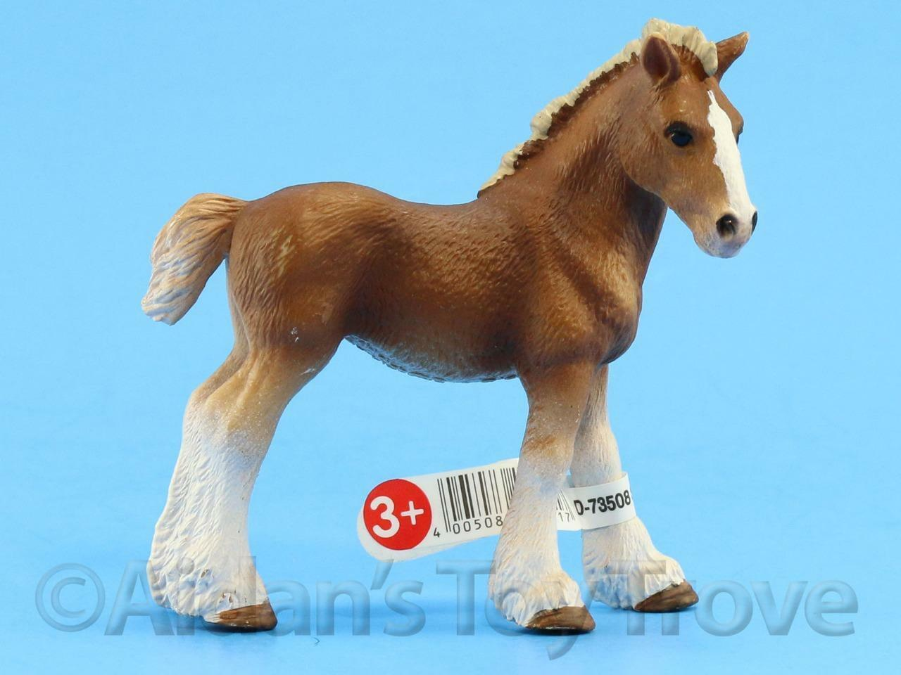 SCHLEICH MODEL HORSE Toy - 13671 Clydesdale Foal - Farm ... - photo#15