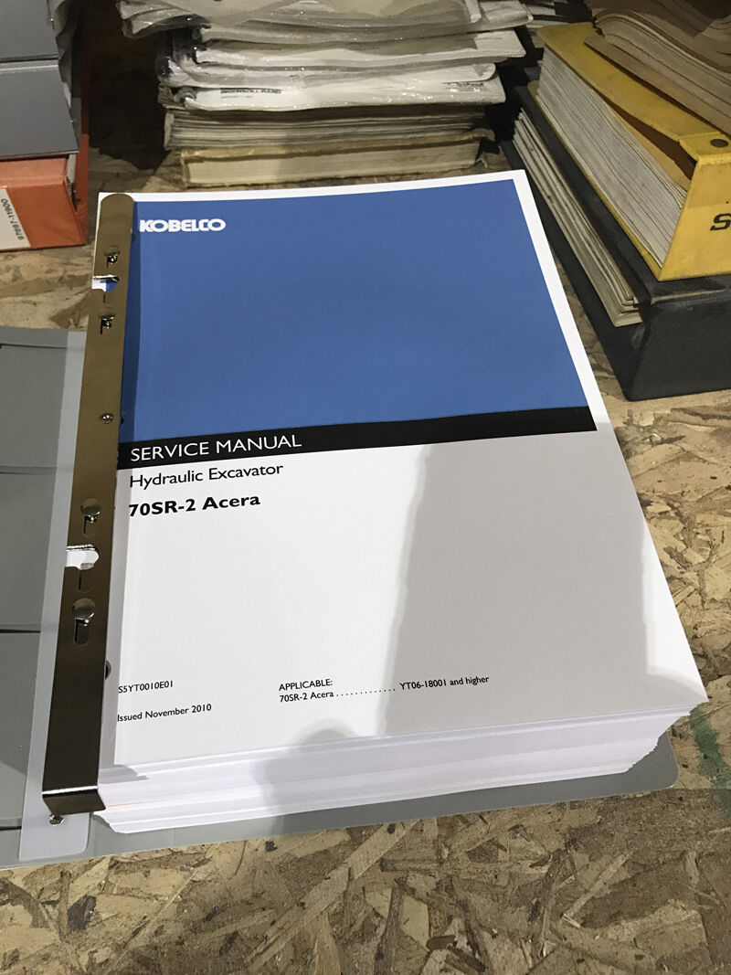 Kobelco 70SR-2 Acera Hydraulic Excavator Repair Shop Service Manual 1 of  1Only 1 available See More