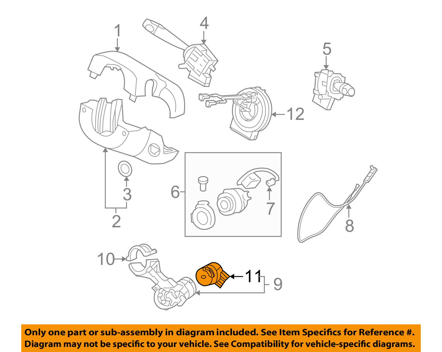 HYUNDAI OEM 07-12 Santa Fe-Ignition Switch 931103K000 1 of 2Only 1  available ...