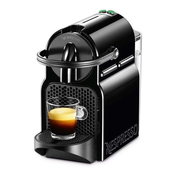 nespresso inissia m105 by magimix coffee pod machine black ex display picclick uk. Black Bedroom Furniture Sets. Home Design Ideas