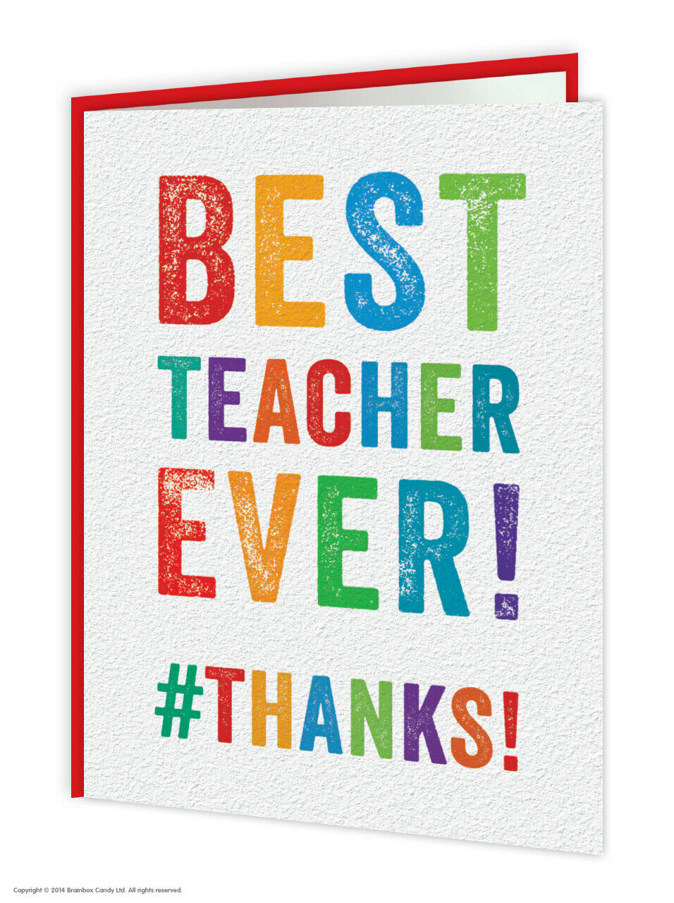 Thank You Thanks Teacher School Greeting Card Funny Novelty Humour