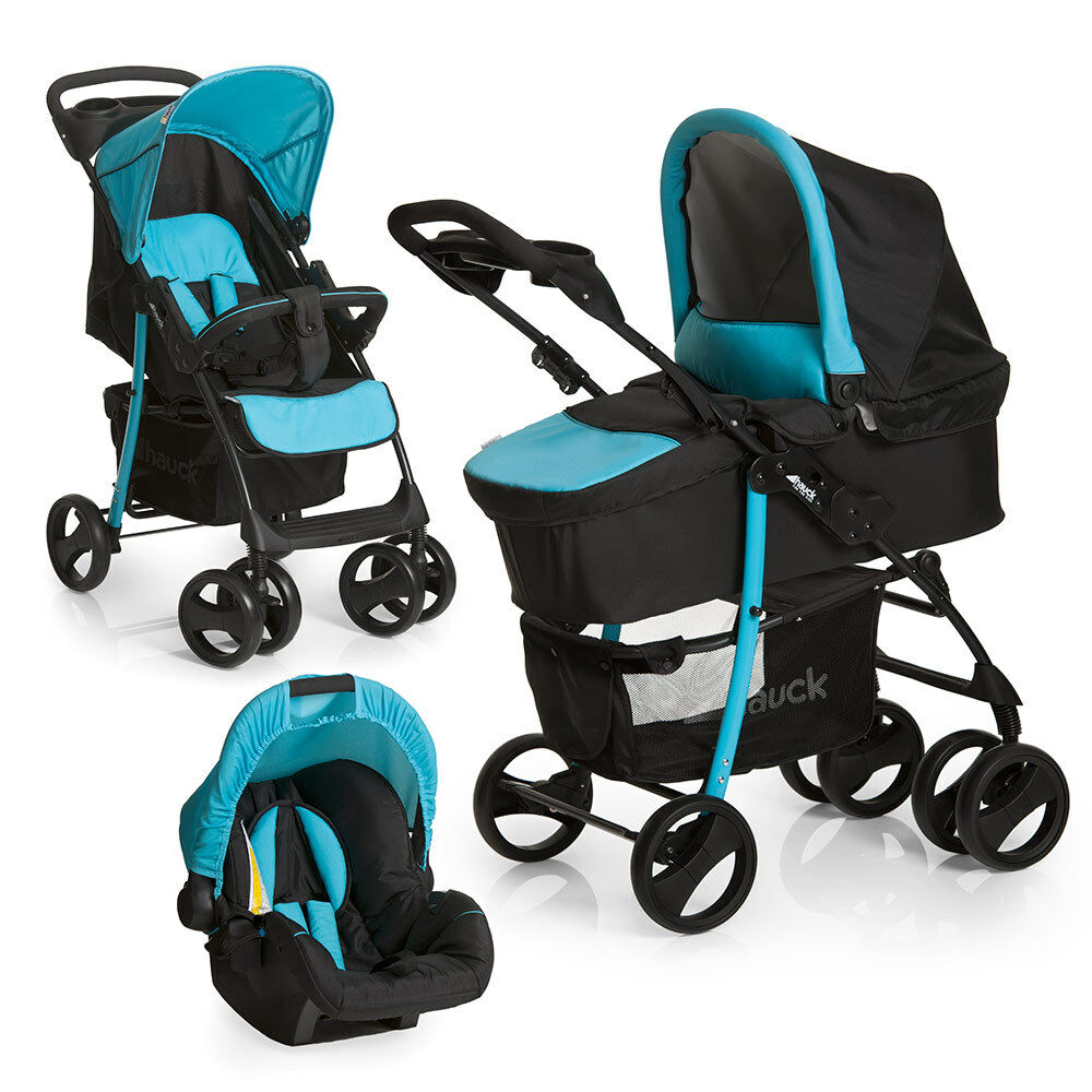 hauck kinderwagen 3in1 set shopper slx trio aqua babyschale kombikinderwagen eur 199 99. Black Bedroom Furniture Sets. Home Design Ideas