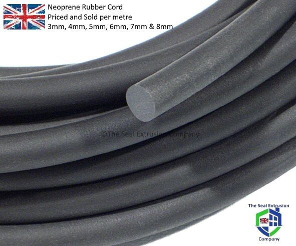 rubber cord o ring cord neoprene black sponge 3mm 4mm 5mm 6mm 7mm 8mm eur 1 11. Black Bedroom Furniture Sets. Home Design Ideas