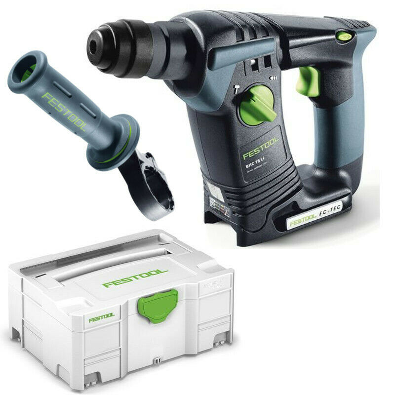 festool akku bohrhammer hammer bhc 18 li basic im systainer handgriff 574723 eur 297 90. Black Bedroom Furniture Sets. Home Design Ideas