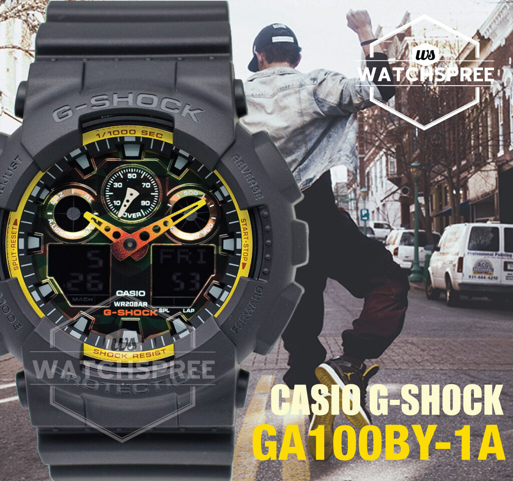 Casio G Shock Special Color Model Sporty Mix Design Watch Ga100by 1a Ga 400hr 1adr 1 Of 5only 2 Available