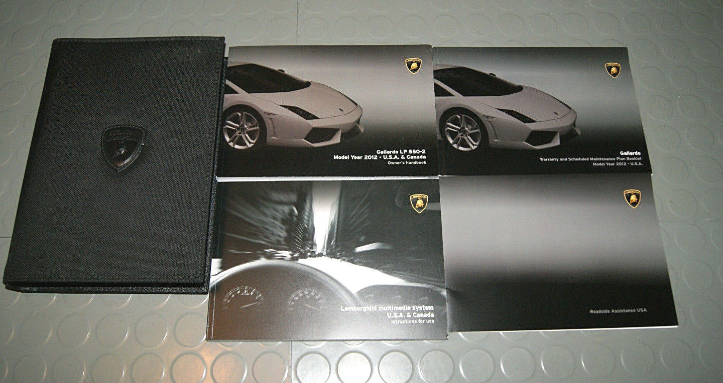 2012 Lamborghini Gallardo LP550-2 Coupe Owners Manual - SET 1 of 1Only 1  available ...
