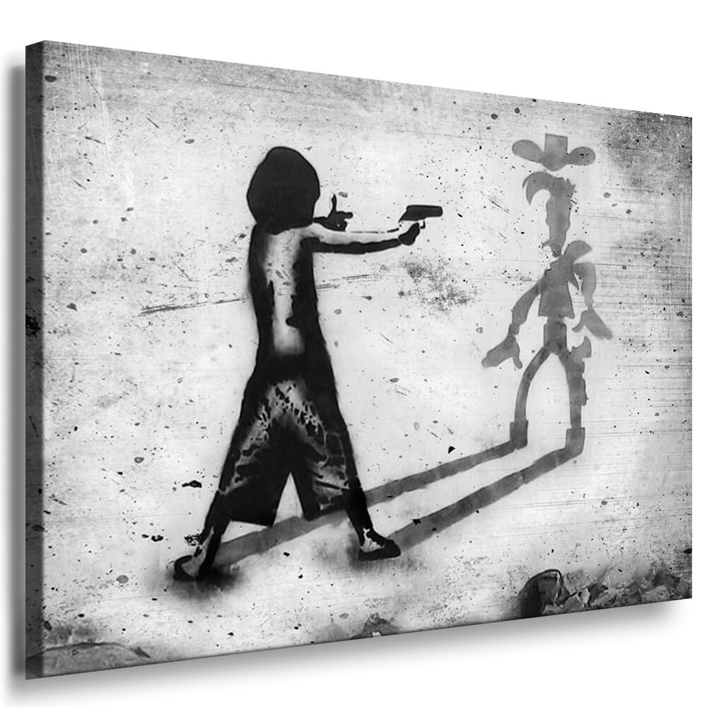 leinwand bild banksy art bilder wandbild 150cm. Black Bedroom Furniture Sets. Home Design Ideas