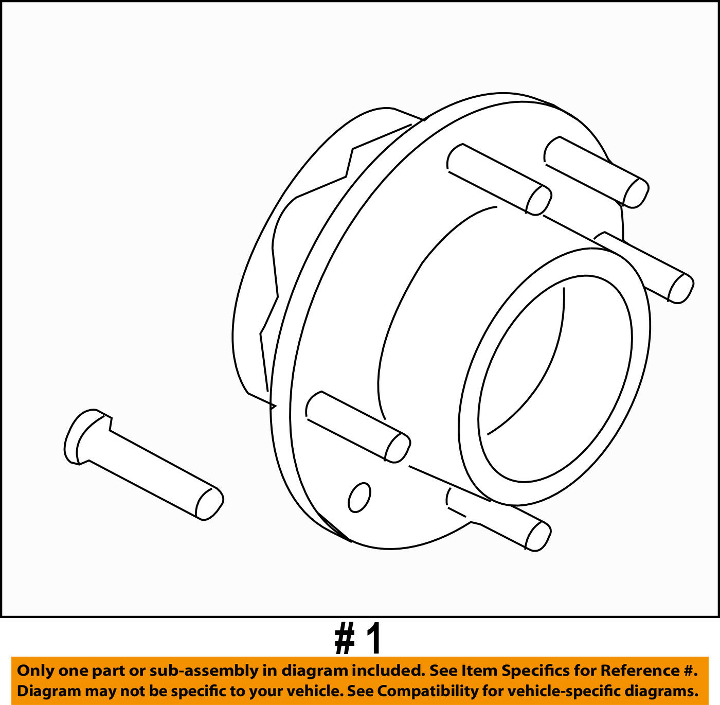 Ford Oem 11 16 F 350 Super Duty Front Wheel Hub Dc3z1104a 38531 Assembly Diagram 1 Of 2only 2 Available