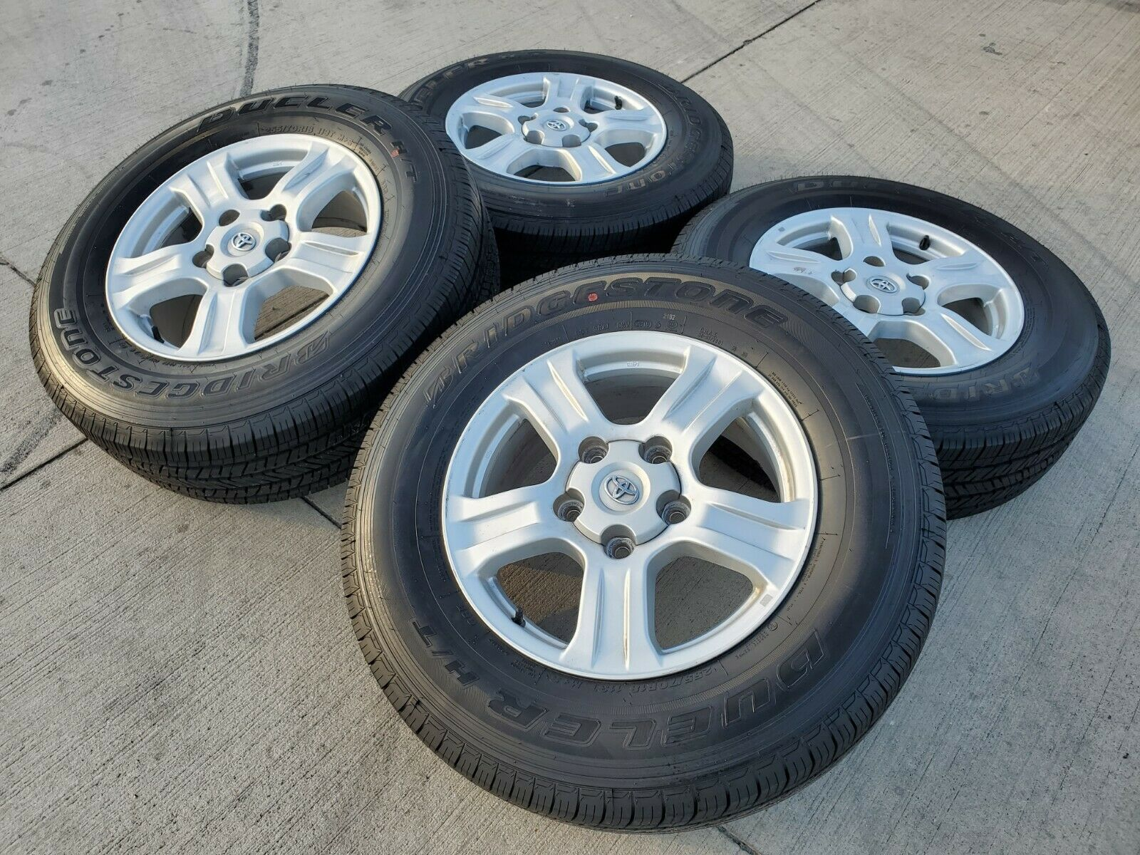 18 Toyota Tundra Sequoia Oem Tss Trd Wheels Rims Tires 2014 2015 Wiring Harness 1 Of 12only Available
