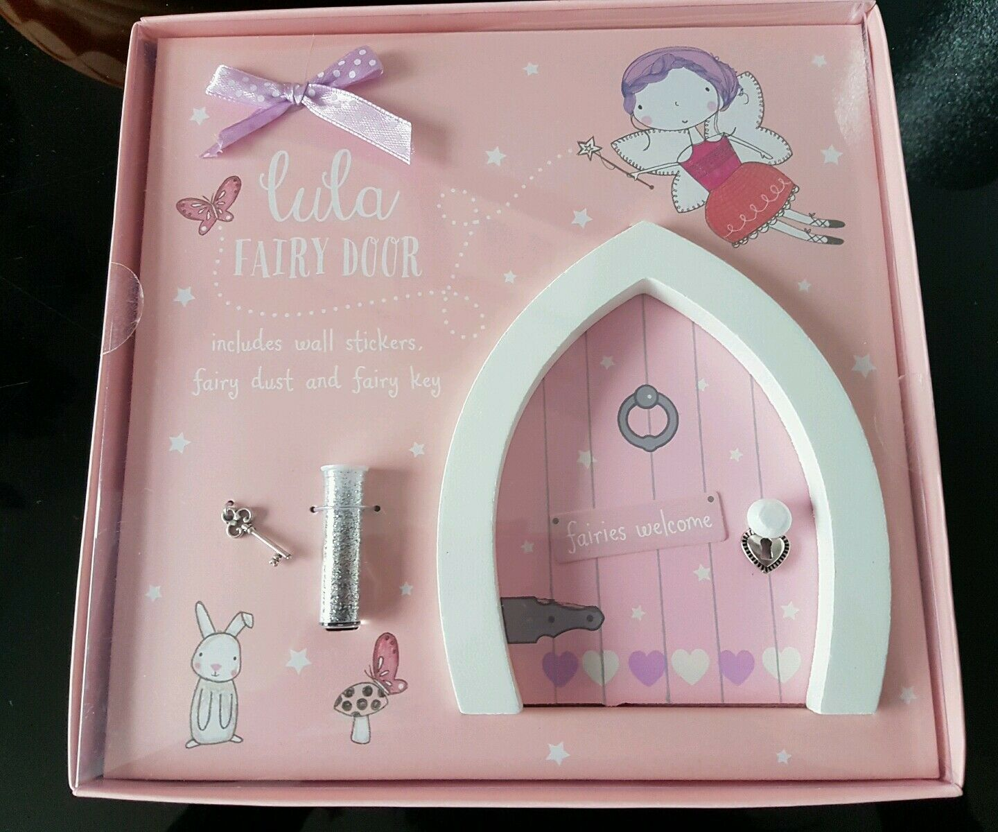 Bnib magical fairy door with magic dust and key perfect for Fairy door with key