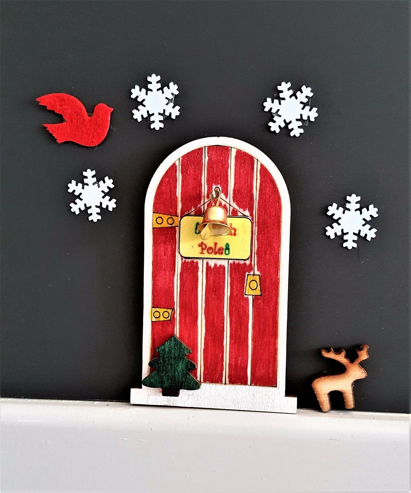 Christmas elf angel fairy magical doors craft decoration for Fairy door kits canada