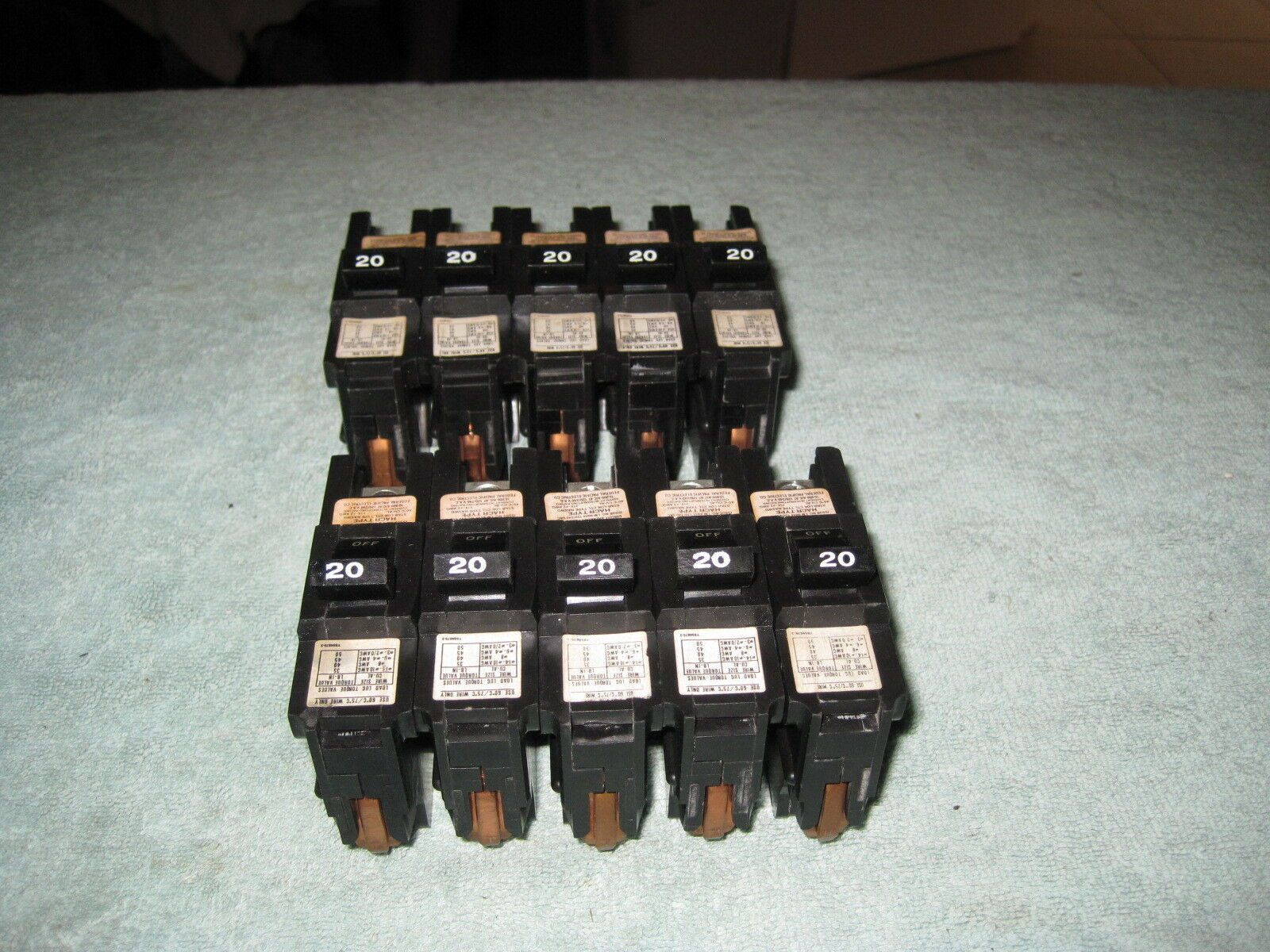 10 Fpe 20 Amp 1 Pole Stab Lok Type Na Thick Federal Pacific Breaker Box With A Circuit Panel Stablok