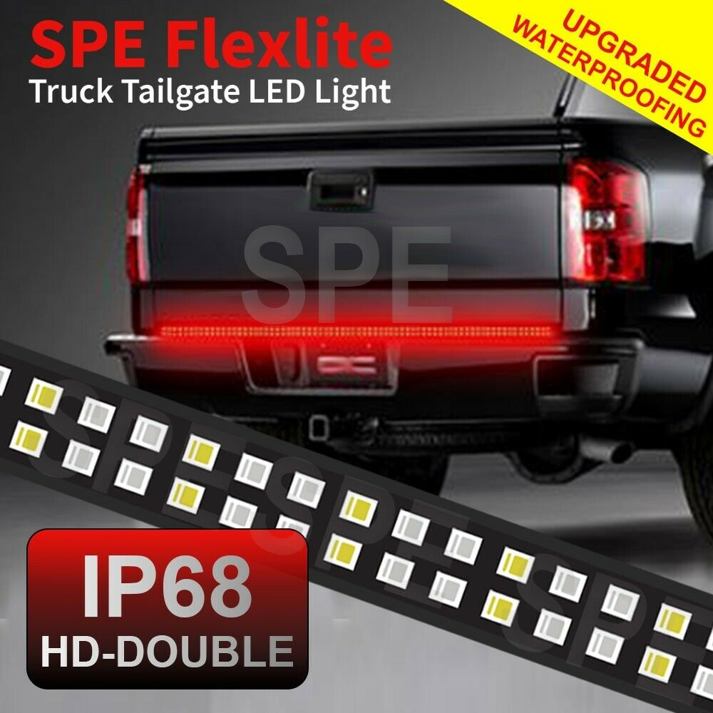 Redline Led Tailgate Light Bar Mediatown 360 Rampage Wire Diagram 60 Double W Red Turn Signal No Drill