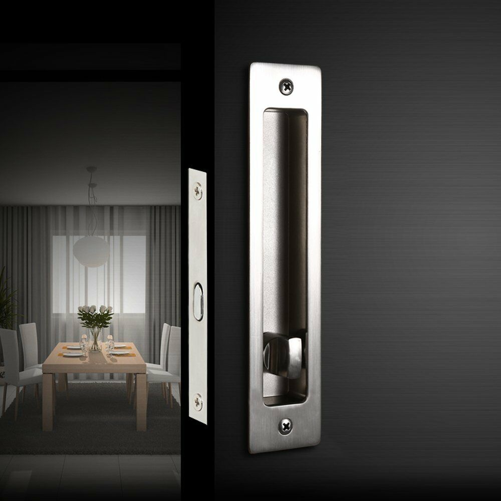 Invisible Door Locks Handle With Keys For Sliding Barn Wood