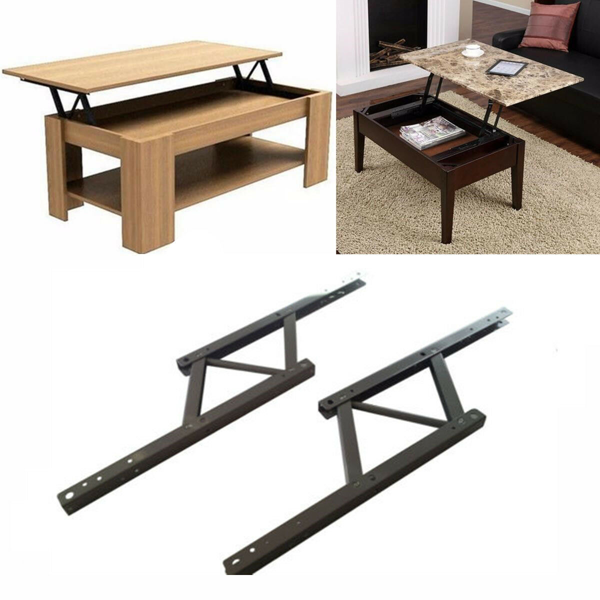 Iron Lift Top Coffee Table Mechanism Diy Hardware Up Furniture Hinge Spring 1 Of 5only 5 Available See More