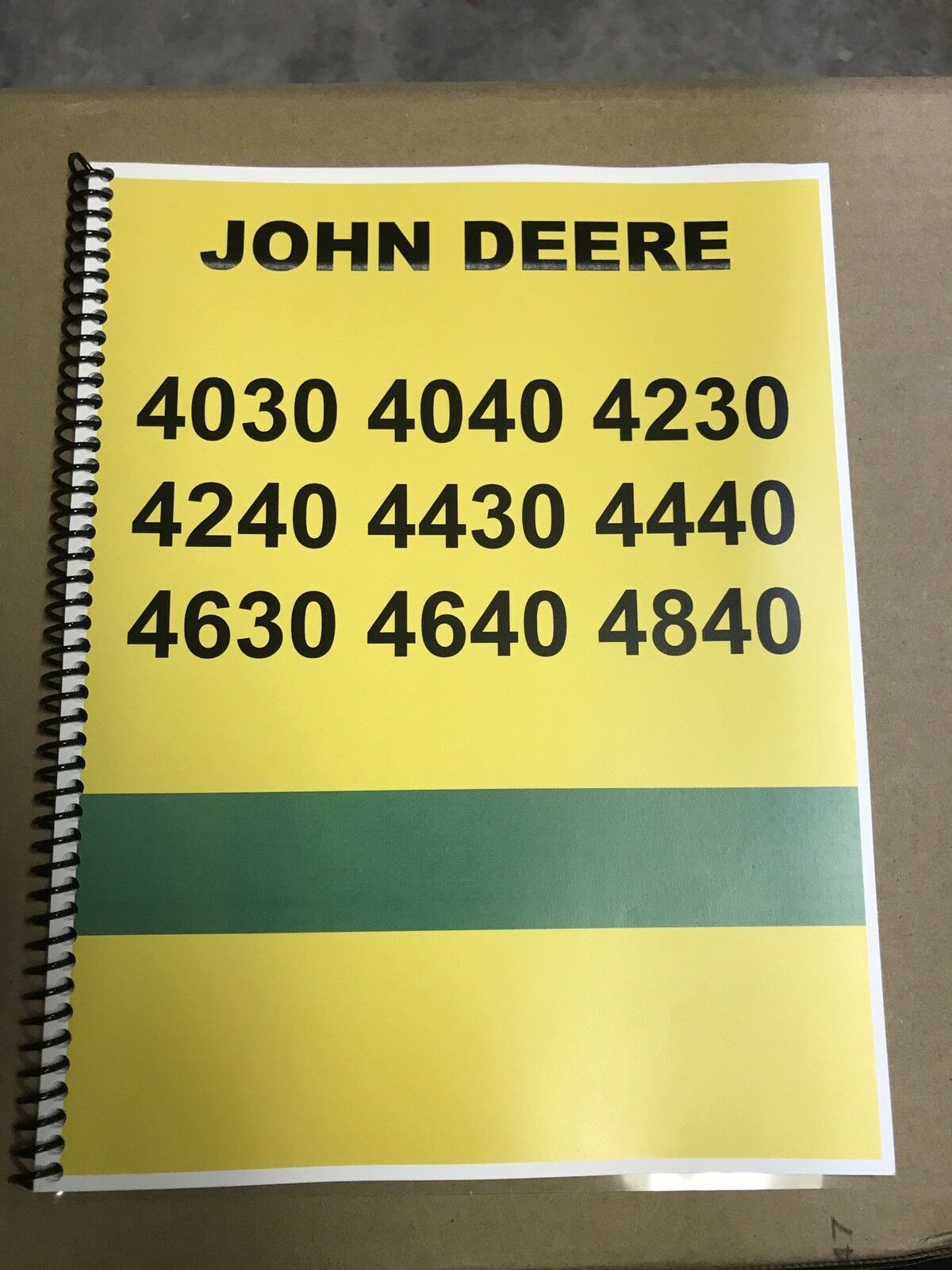 4230 John Deere Technical Service Shop Repair Manual Condensed 1 of 9Only 3  available ...